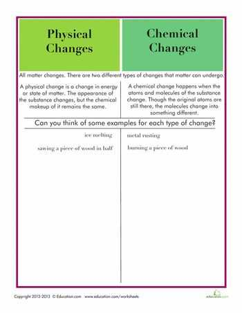 Physical and Chemical Changes Worksheet Along with 44 Best Chemistry Images On Pinterest