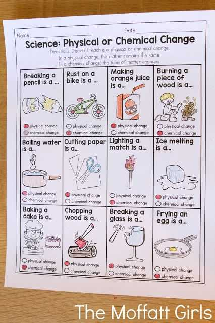 Physical and Chemical Changes Worksheet Also Physical or Chemical Change This is A Great Practice Sheet that