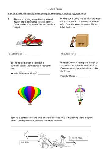 Physics force Worksheets with Answers Along with forces Worksheet Year 2 Kidz Activities