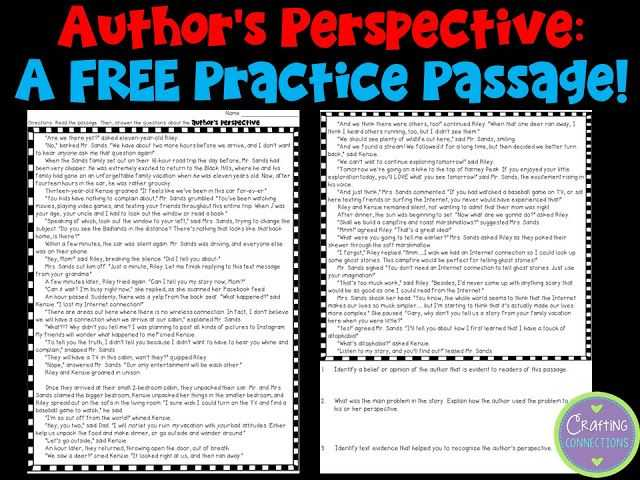 Point Of View Worksheet Answers Along with Teaching About Author S Perspective