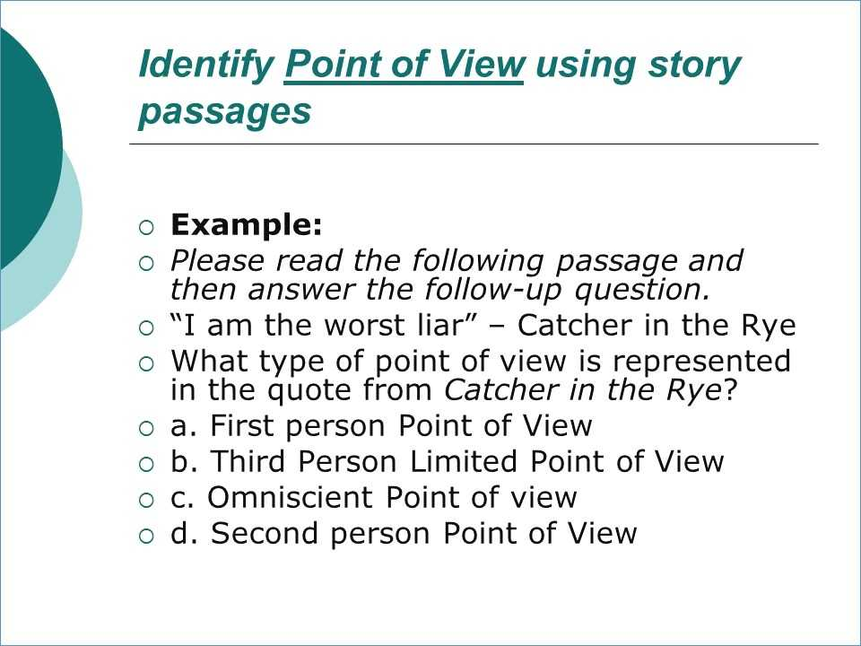Point Of View Worksheet Answers as Well as First and Third Person Powerpoint