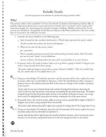 Polyatomic Ions Worksheet Answers Pogil with Periodic Trends Worksheet Answers Pogil Worksheets