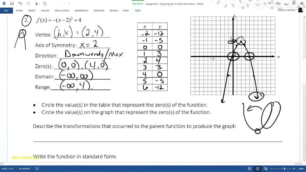 Practice Worksheet Graphing Quadratic Functions In Vertex form Answer Key Also Graphing Quadratics Worksheet Gallery Worksheet Math for Kids