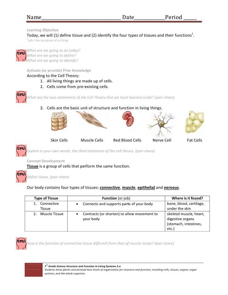 Pre Lab Activity Worksheet Answers or Großartig Anatomy and Physiology 1 Worksheet for Tissue Types