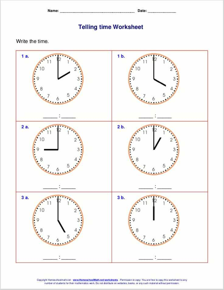 Printable Clock Worksheets or 13 Best Teaching Time Images On Pinterest