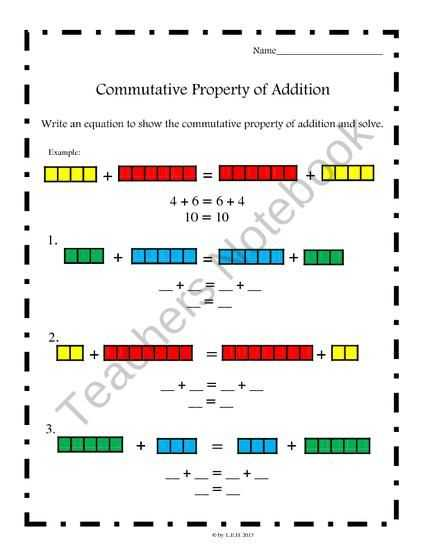 Properties Of Addition Worksheets together with Mutative Property Of Addition Worksheets Mon Core Aligned