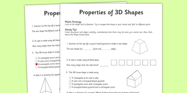Properties Of Operations Worksheet Also Year 3 Properties Of Shapes Worksheet Activity Sheet