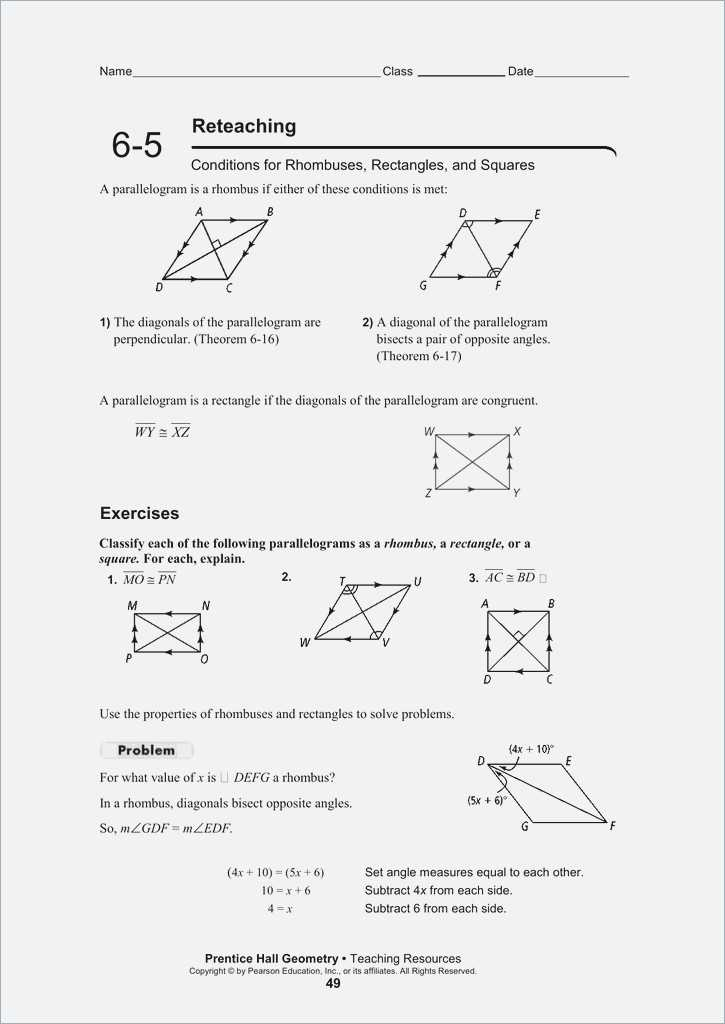 Properties Of Rectangles Rhombuses and Squares Worksheet Answers and Properties Parallelograms Worksheet Image Collections Worksheet