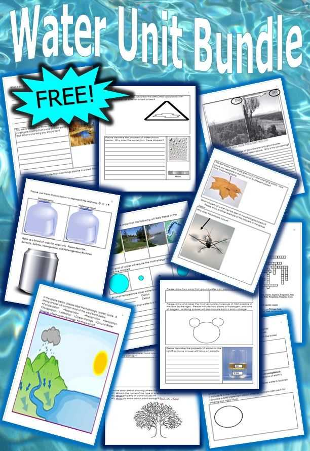 Properties Of Water Worksheet Answer Key Along with This is A Free 14 Page Homework or Classwork Bundle About the Water