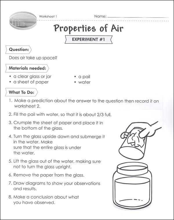 Properties Of Water Worksheet or Properties Of Air Worksheet Class Pinterest