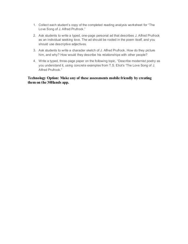 Prufrock Analysis Worksheet Answer Key and Help Writing College Essay Fice De tourisme De Saint Etienne