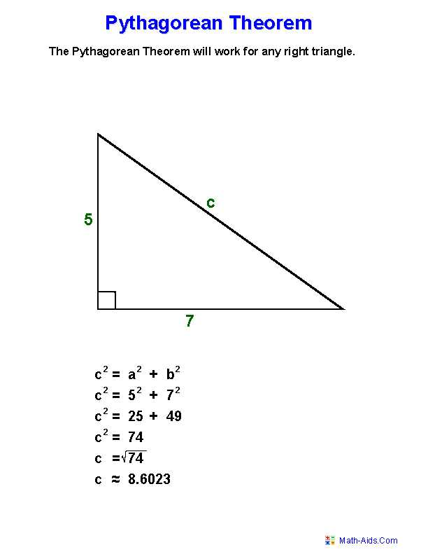 Pythagorean Puzzle Worksheet Answers and Pythagorean theorem Worksheets
