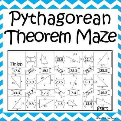 Pythagorean Puzzle Worksheet Answers as Well as 158 Best Math Pythagorean theorum Images On Pinterest