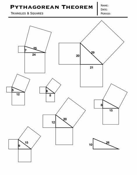 Pythagorean theorem Review Worksheet and 158 Best Math Pythagorean theorum Images On Pinterest