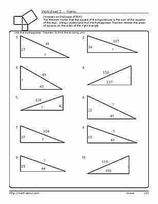 Pythagorean theorem Review Worksheet together with 23 Best Pythagorean theorem Images On Pinterest