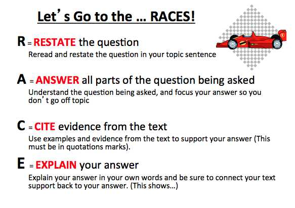 Race Writing Strategy Worksheet and Races format Thinkpawsitive