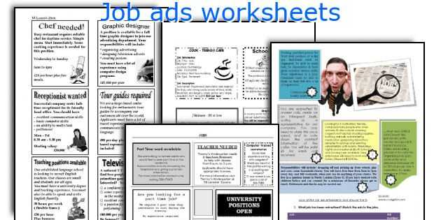Reading Help Wanted Ads Worksheets Along with English Teaching Worksheets Job Ads
