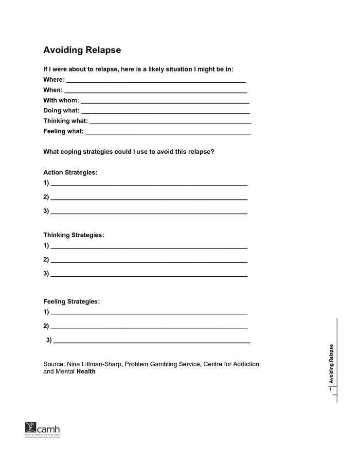 Relapse Prevention Worksheets Pdf as Well as 19 Best Relapse Prevention Images On Pinterest