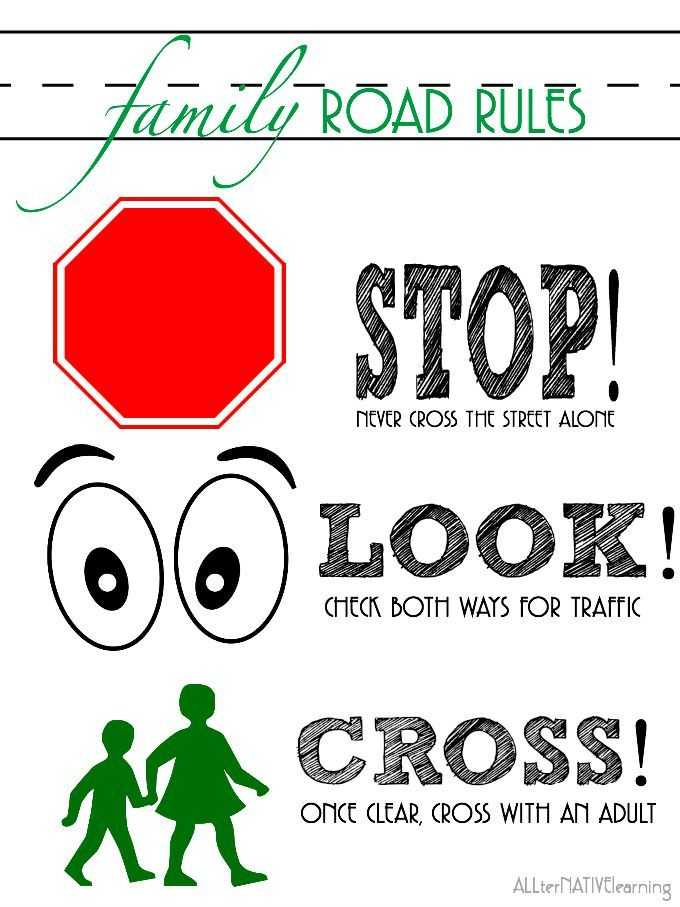 Safety Symbols Worksheet Also 9 Rules Of the Street for Teaching Road Safety to Children
