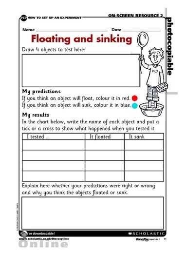 Science Project Worksheet Along with 16 Best Sink and Float Images On Pinterest