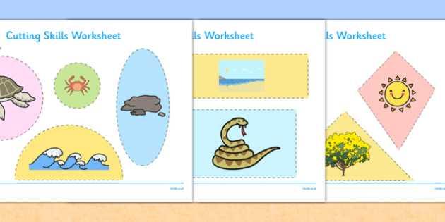 Science Skills Worksheet Along with Australian Beach Habitat Cutting Skills Worksheet Australia