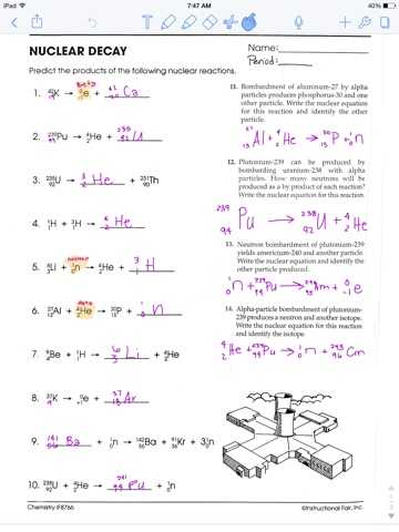 Science Skills Worksheet Answer Key and Nuclear Decay Worksheet with Answers Page 34 Kidz Activities
