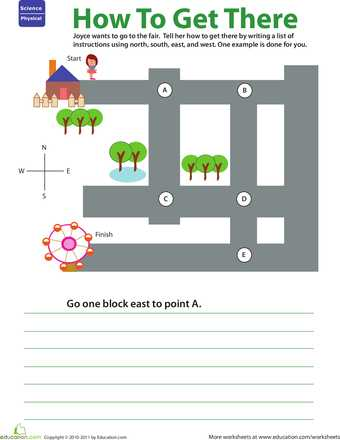 Science Skills Worksheet together with Getting there Practice Giving Directions