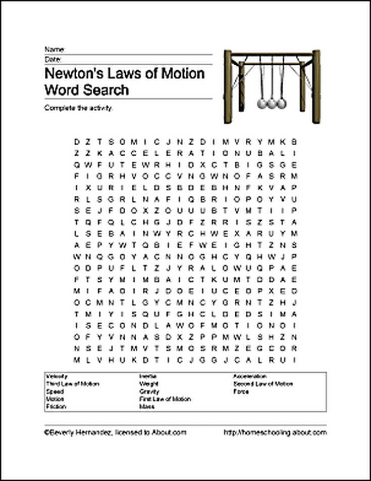 Search for Matter Vocabulary Review Worksheet Answers together with Fun Ways to Learn About Newton S Laws Of Motion