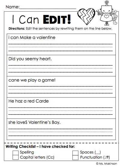 Sentence Editing Worksheets and 153 Best Classroom Worksheets Images On Pinterest