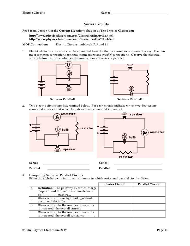 Series and Parallel Circuits Worksheet Answer Key Along with 28 Beautiful Series and Parallel Circuits Worksheet