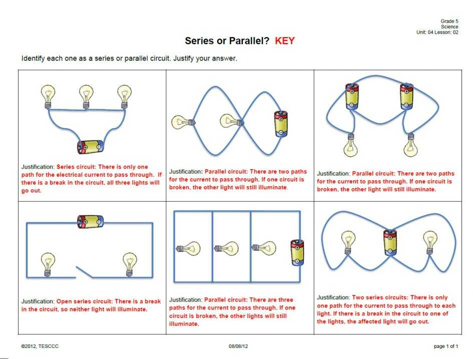 Series and Parallel Circuits Worksheet Answer Key and Ponent Series Parallel Circuit Science Projects Series and