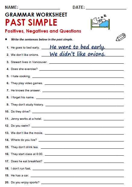 Should Shouldn T Worksheet with Past Simple All Things Grammar