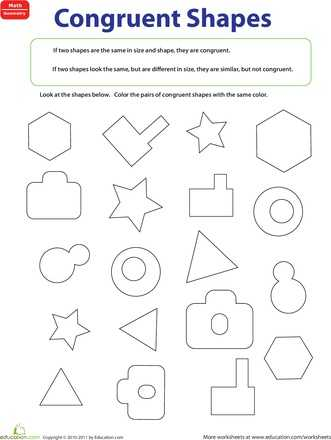 Similar and Congruent Figures Worksheet Along with 9 Best Geometry Worksheets Images On Pinterest