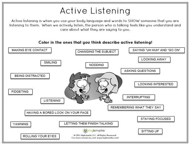 Social Interaction Worksheets and Active Listening is A Critical Skill to Learn for Children Parents