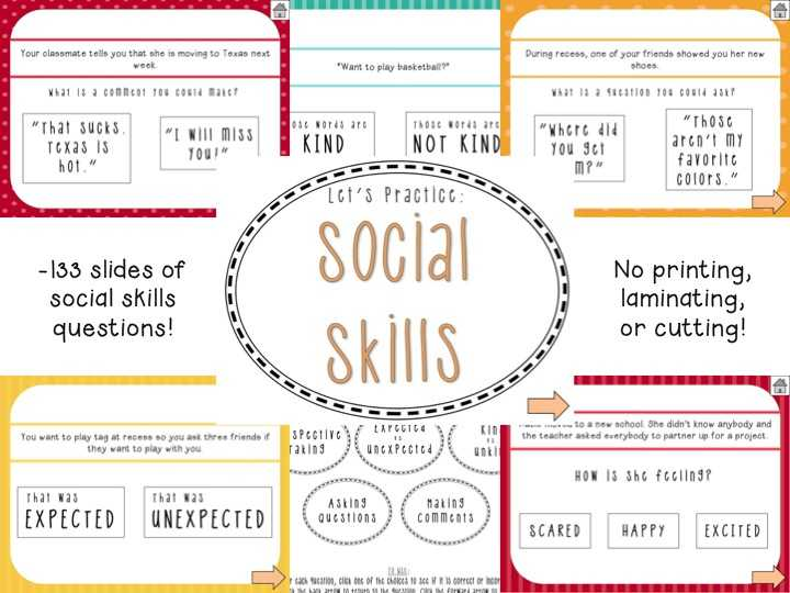 Social Skills Scenarios Worksheets Along with therapy Ideas