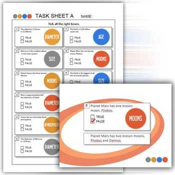 Solar System Worksheets with Inner Planets Worksheets and Presentation solar System