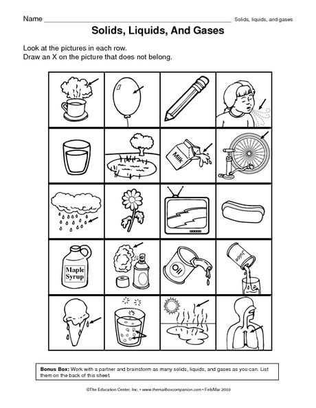 Solid Liquid Gas Worksheet as Well as 8 Best Matter Images On Pinterest