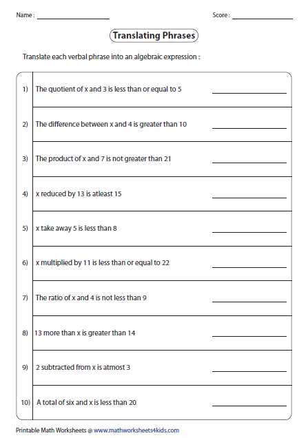 Solving Algebraic Equations Worksheets together with Worksheets 46 Lovely solving Inequalities Worksheet High Resolution