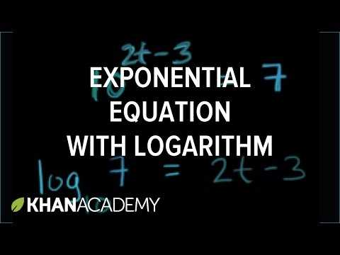 Solving Log Equations Worksheet Key or solving Exponential Equations Using Logarithms Base 10 Video