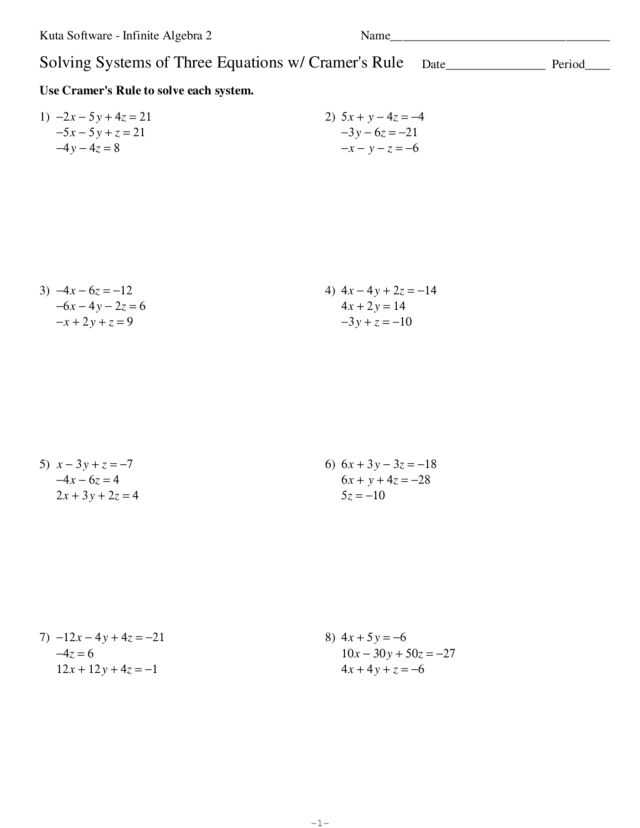 Solving Systems Of Equations by Substitution Worksheet or Unique solving Equations with Variables Both Sides Worksheet
