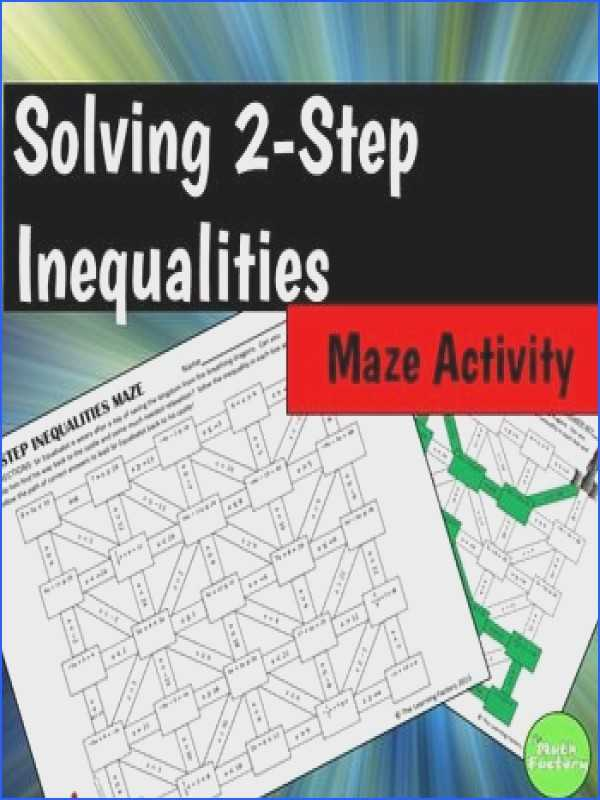 Solving Two Step Inequalities Worksheet Answers together with Two Step Inequalities Worksheet