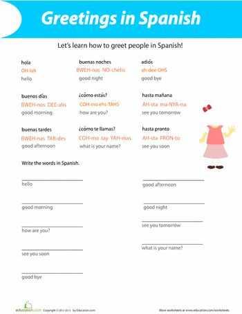 Spanish Greetings Worksheet Along with 27 Best Spanish Worksheets Level 1 Images On Pinterest