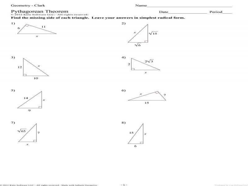 Special Right Triangles Worksheet Pdf Also Special Right Triangles Worksheet