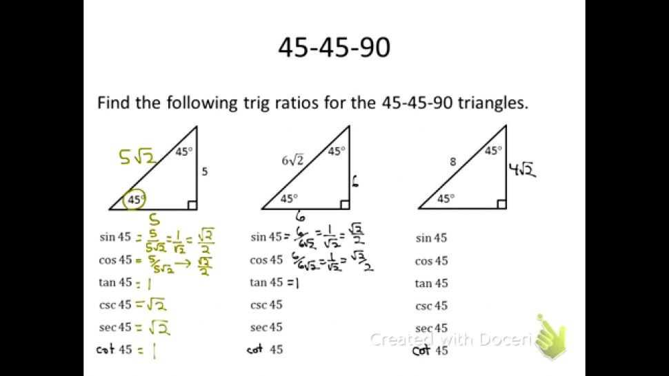 Special Right Triangles Worksheet Pdf together with Special Triangles Worksheet