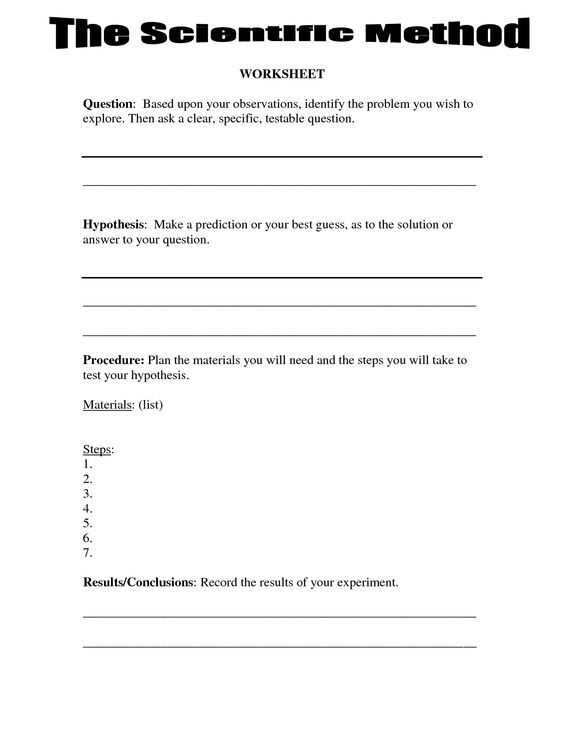 Specific Heat Worksheet and 4th Grade Science Worksheets Scientific Method