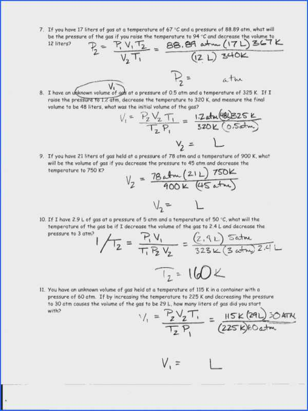 Specific Heat Worksheet and Mole Calculation Worksheet Answers