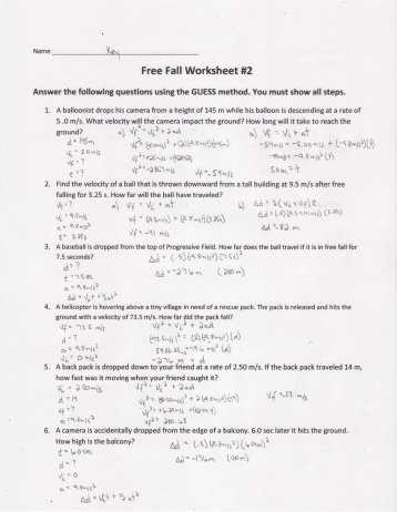 Speed Velocity and Acceleration Calculations Worksheet Answers Key Along with Worksheet