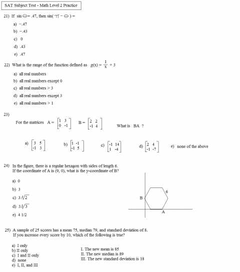 Standard Deviation Worksheet with Answers Pdf together with Math Worksheets Sat Passport to Advancede Test Answer Explanations