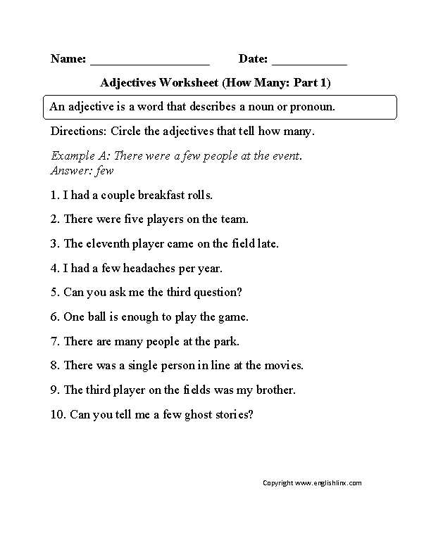 Subordinate Clause Worksheet Also Adjectives Worksheet How Many Part 1 Beginner