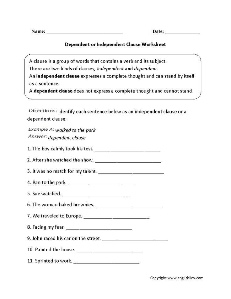 Subordinate Clause Worksheet or 37 Best Grammer Dependent and Independent Clauses Images On